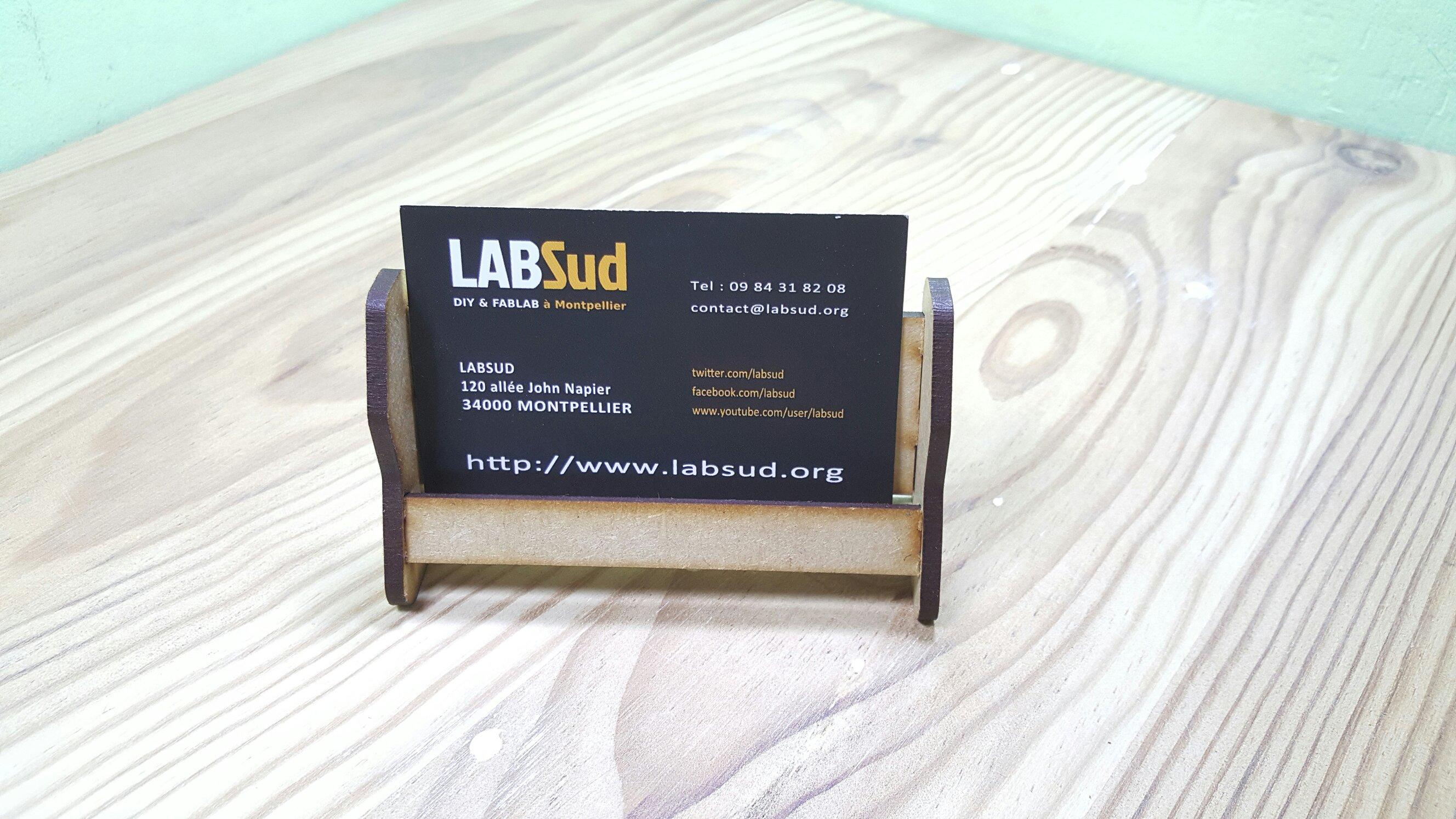 Porte cartes personnalisable