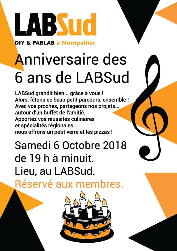 6 octobre 2018 : portes ouvertes et 6 ans de LABSud