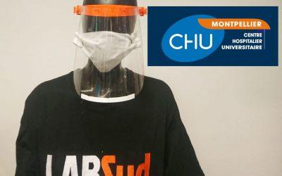 COVID19 : LABSud réalise des visières pour le CHU de Montpellier