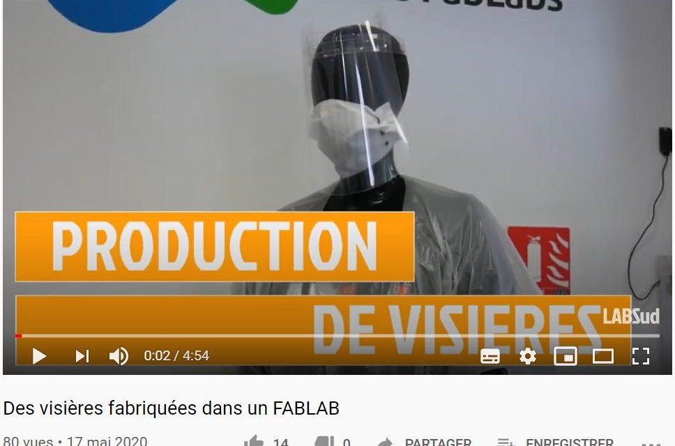 Vidéo : Des visières fabriquées à LABSud